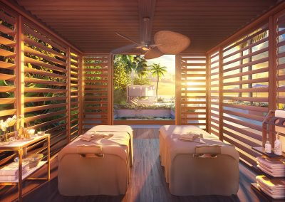 3D rendering sample of the cabana design at 57 Ocean condo.