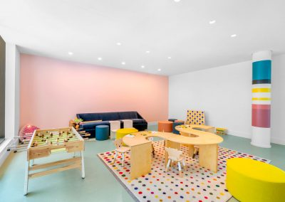 Photograph of the children's playroom at Arte Surfside condo.